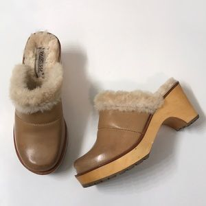 Matisse | Faux Fur Lined Leather Clog